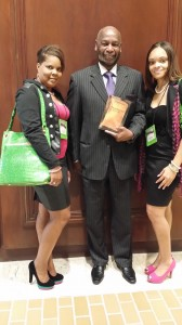 "Author, Clemon Maddox showcasing his book entitled ""Nesselorette-The Book"" at the Alpha Kappa Alpha Sorority,Inc. Regional Conference Anatole Dallas"